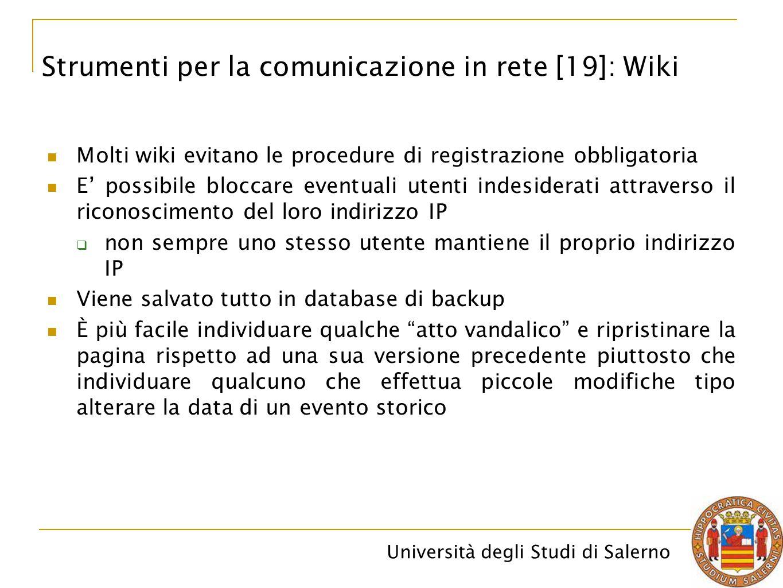 Strumenti per la comunicazione in rete [19]: Wiki